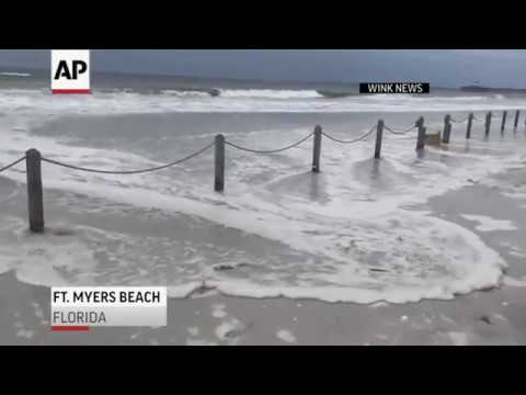 WINK NEWS in Ft. Myers, Florida reported that tides were unusually high as Hurricane Michael approached the state on Tuesday. Winds grew stronger on the Gulf Coast early Wednesday. (Oct. 10)