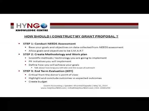 HOW SHOULD I CONSTRUCT MY GRANT PROPOSAL?