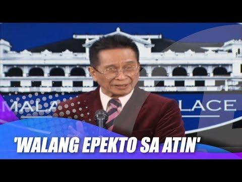 [News5]  'Walang epekto kahit hindi sila tumulong' –Panelo