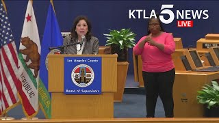 Coronavirus: L.A. County officials provide updates on COVID-19 response