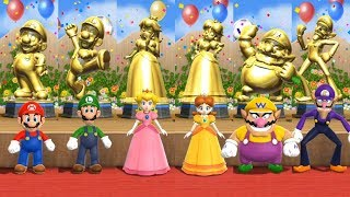 Mario Party 9 - All Character Step It Up Victory Celebrations
