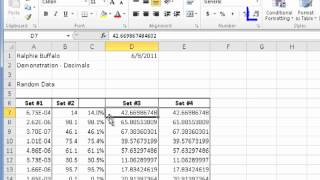 Formatting Numbers in Excel