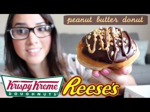 Krispy Kreme Reese's Peanut Butter Donut- FOOD REVIEW