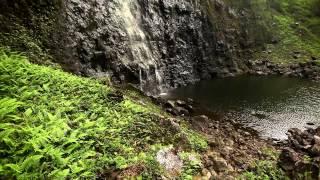 """Mystical Falls"" 6 HOUR Video Background w/Nature Sounds Napali Coast Kauai HD Nature 1080p"
