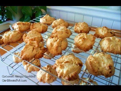 Caribbean Coconut Mango Cookies Recipe.