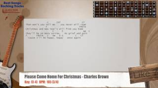 Please Come Home For Christmas - Charles Brown Guitar Backing Track with chords and lyrics