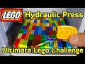 HYDRAULIC PRESS vs 104 LEGO BRICKS (900kg/piece)