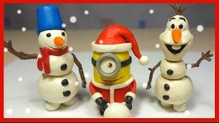 Лепим Снеговика Олафа из пластилина. Холодное сердце. Olaf Snowmen.