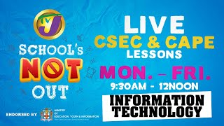 TVJ Schools Not Out: CSEC Information Technology With Leo Lewis  - March 31 2020