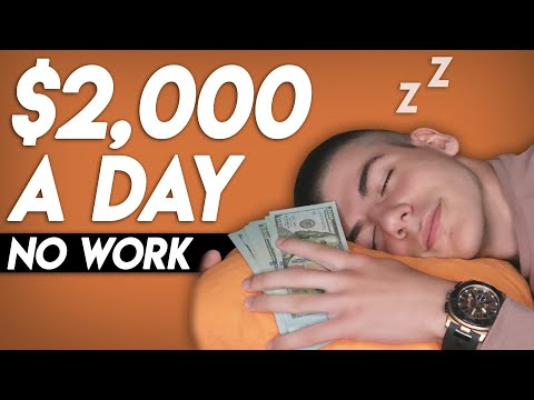 Make $2,000 A Day While You Sleep (WORLDWIDE | Make Money Online)
