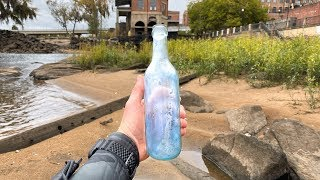 Found Rare Vintage Bottles Underwater in the River! (Scuba Diving)