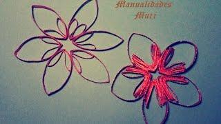 Manualidades. Estrellas/flores para decorar con rollos de papel higiénico
