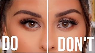 FALSE EYELASHES DOS AND DONTS