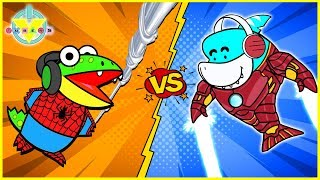 Roblox Superhero Tycoon Let's Play with VTubers IRON Gil Vs. SPIDER Gus