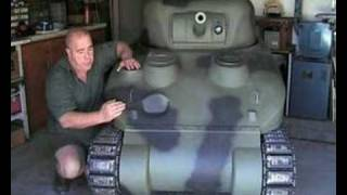 How to build a 2/5 th scale SHERMAN Tank. part 1