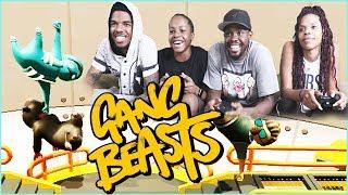 WHOA! INTENSE AERIAL SHOWDOWN! - Gang Beasts Gameplay