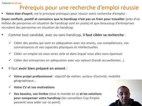 Video Présenter son handicap en phase de candidature