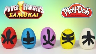 Play-Doh Power Rangers Surprise Eggs Opening With Ckn Toys Super Samurai Dino Charge Megaforce