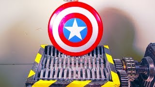 Shredding Avengers Captain America Toy Shield And Some More Marvel Toys - Video Youtube