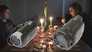 Vergleich Sony FDR-AX33 und HDR-CX240 (Full-HD)