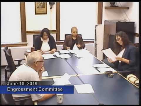 Engrossments Rules, Resolutions & Credentials Committee - June 18, 2019
