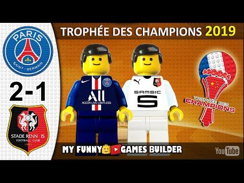 Paris Saint-Germain PSG vs Rennes 2-1 • Trophée des champions 2019 🏆 All Goals LEGO Football France
