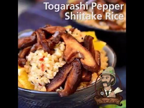 Togarashi Pepper Shiitake Rice Bowl