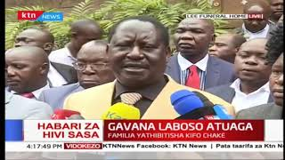 ''It is a major blow to the Nation of Kenya to lose Joyce Laboso'' , Raila Odinga