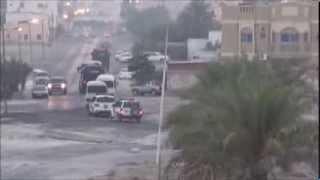 preview picture of video 'انتشار موسع لقوات النظام في سترة سفالة تحسباً لتظاهرات التمرد 17/8/2013 | Bahrain'