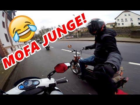 Mofa GANG :D | Autofahrer MUCKT auf | APRILIA SR 172ccm