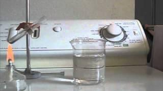 Thermal decomposition of potassium permanganate