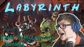 (THE BUILDING COLLAPSED!) [FNAF/SFM] Labyrinth - Jonlanty - GoronGuyReacts