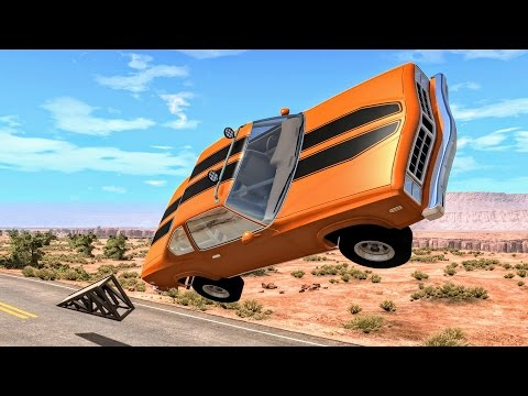 Car Flips & Cliff Drops #1 – BeamNG Drive