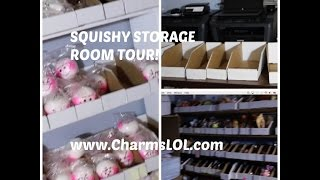 My Website's Squishy Storage and Shipping Room Tour!! | CharmsLOL