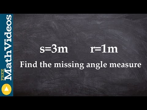 Learn how to find the missing angle measure given arc length and radius