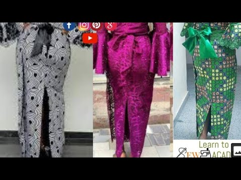 How to Make a Pencil Skirt Wrapper - Iro Skirt. Nigerian Modern Iro & Buba (Wrapper)