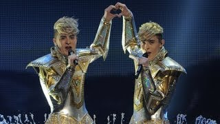 Jedward perform 'Waterline' at the Eurovision Song Contest 2012 Semi Final