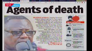 Agents of Death: Deputy governor Gideon Saburi accused of being reckless in regards to coronavirus