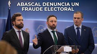 Santiago Abascal, explica en el Congreso la posición de VOX tras el preacuerdo de Gobierno del PSOE y Unidas Podemos y denuncia el engaño cometido por el representante socialista, que lleva a España a un peligroso pacto con el comunismo.