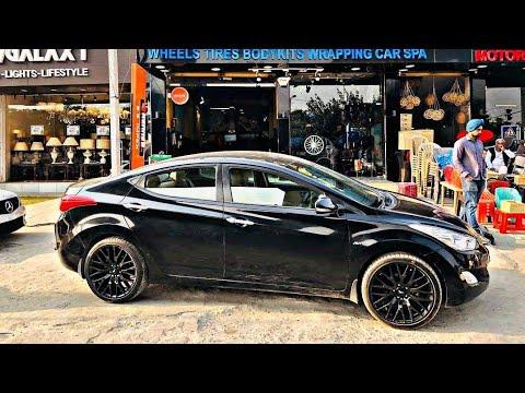 Hyundai Elantra Modified | Black Colour | Black Sporty Alloy Wheels | Verna