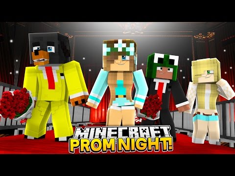 Minecraft SCHOOL PROM NIGHT - WHO IS CROWNED PROM QUEEN & KING???? - donut the dog minecraft