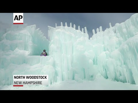 """Ice Castles in North Woodstock, New Hampshire is a site that features a collection of ice tunnels, caverns and a 97-foot ice slide that cover an acre of farmland and looks like a scene straight out of the movie """"Frozen."""" (Feb. 28)"""