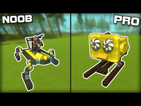 NOOB vs PRO Walker Racing! (Scrap Mechanic Gameplay)