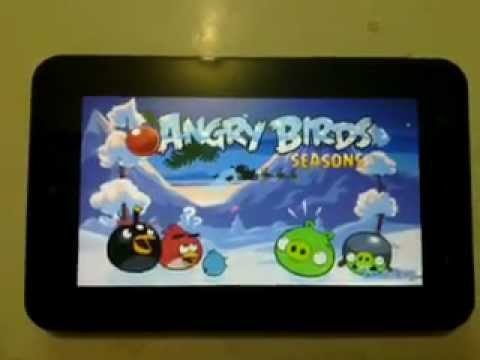 Playing angry birds on Cherry Mobile Cherrypad turbo