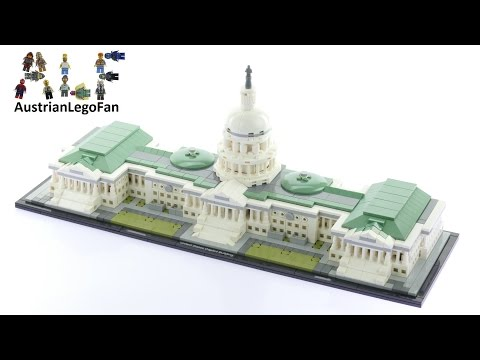 Lego Architecture 21030 United States Capitol Building - Lego Speed Build Review