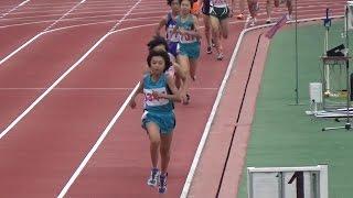 20140713東京都中学総体女子1500m決勝鈴木理子さん大会新4分33秒19