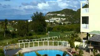 preview picture of video 'Apartment G6 view from the balcony - Silver Reef St Kitts'