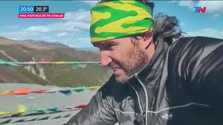 Dio la vuelta al mundo en bici y vuelve a Buenos Aires