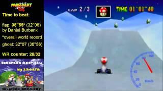 MK64 - former world record on Frappe Snowland - 38''53 (NTSC: 32''04)