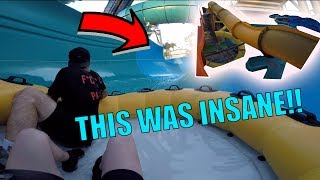 SNEAKING INTO WATERPARK AFTER HOURS IN LA (INSANE)
